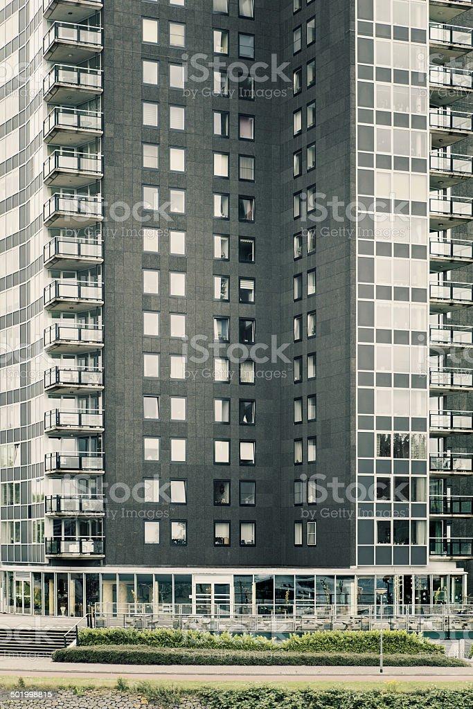 Contemporary Dutch apartment building stock photo