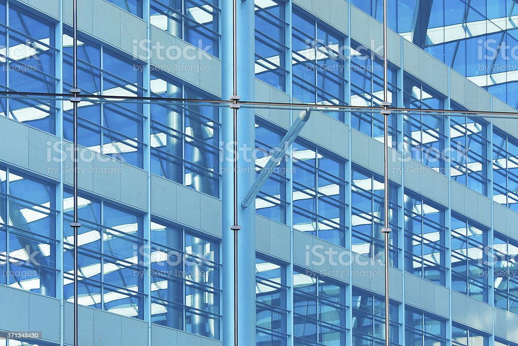 contemporary glass and steel building in London royalty-free stock photo