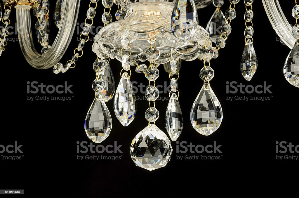 Contemporary glass chandelier crystals royalty-free stock photo