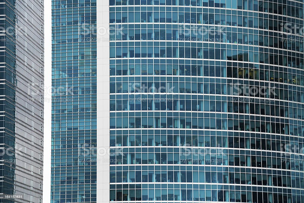 contemporary glass walls royalty-free stock photo