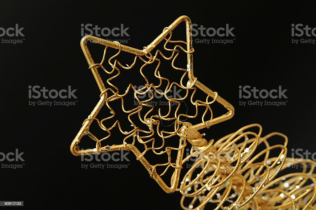 Contemporary Gold Star on Black royalty-free stock photo