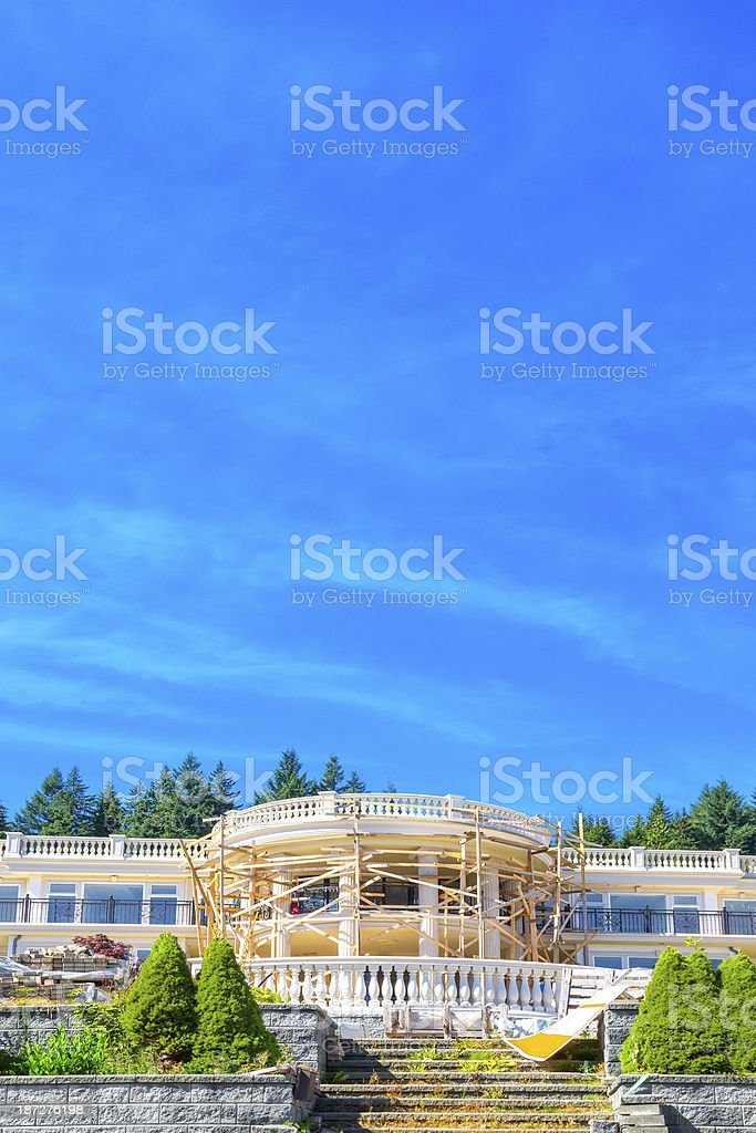 Contemporary home being built royalty-free stock photo