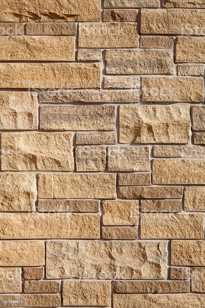 Contemporary Home Brick Wall Feature royalty-free stock photo