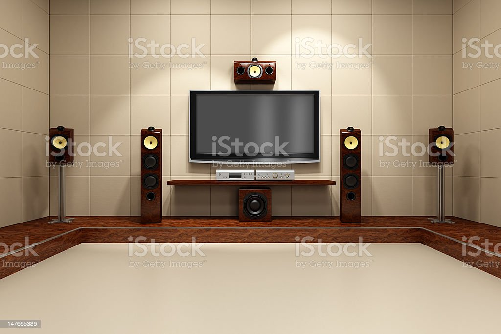 Contemporary Home Theater System stock photo