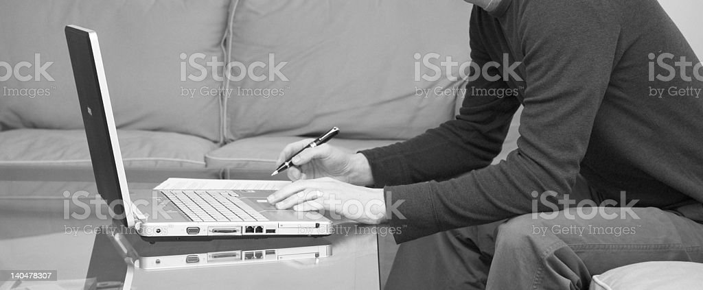 Contemporary home worker royalty-free stock photo