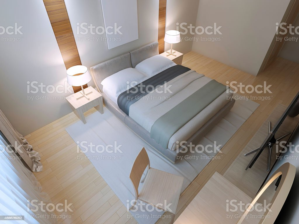 Contemporary hotel apartment stock photo