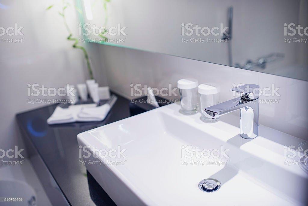 Contemporary Hotel Bathroom stock photo