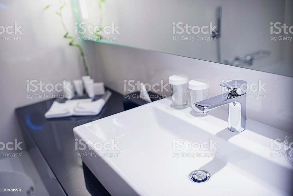 Contemporary Hotel Bathroom stock photo