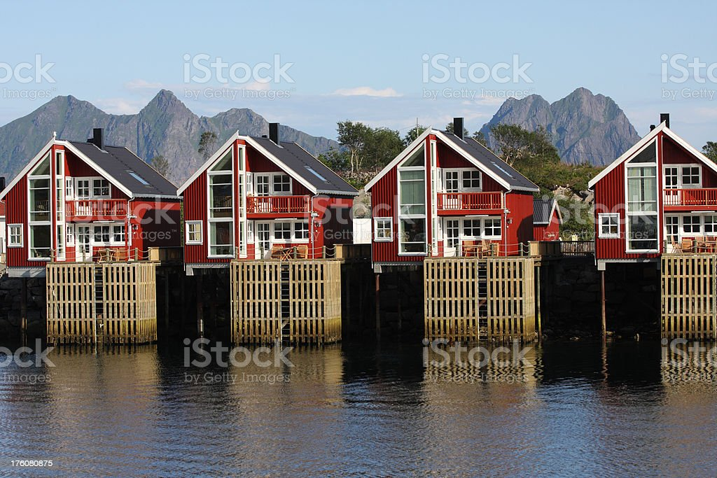Contemporary housing in Norway royalty-free stock photo