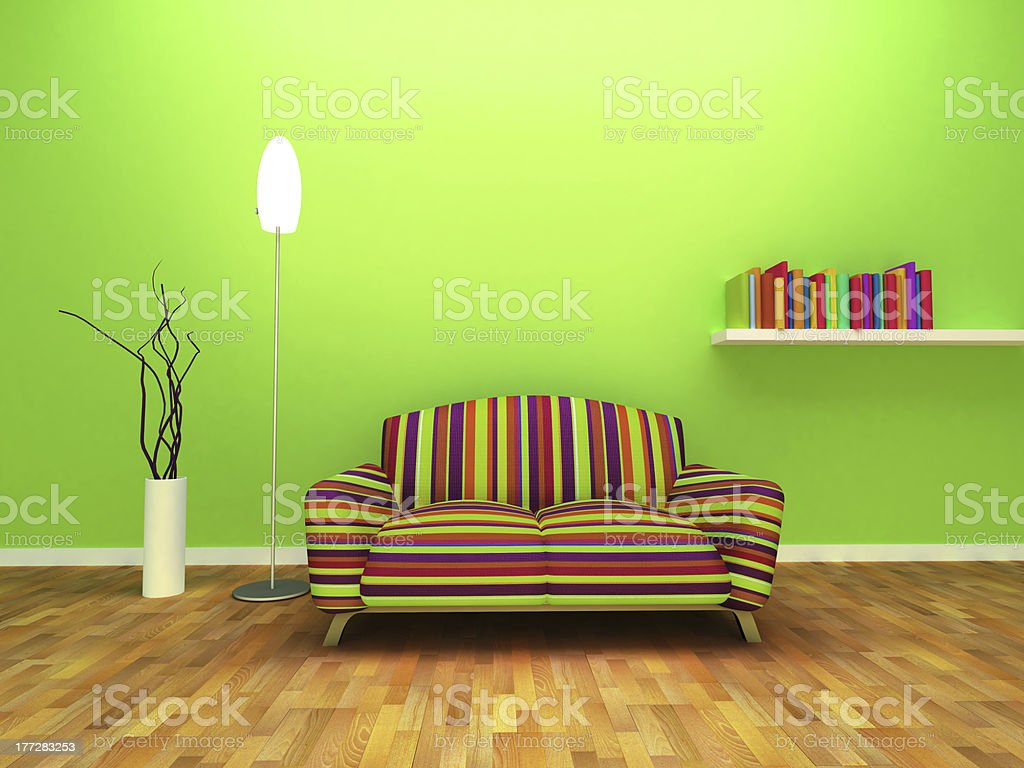 Contemporary interior design royalty-free stock photo