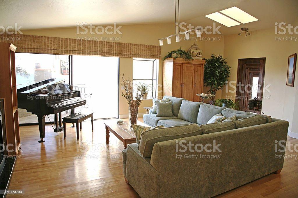 Contemporary Interior Living Room royalty-free stock photo