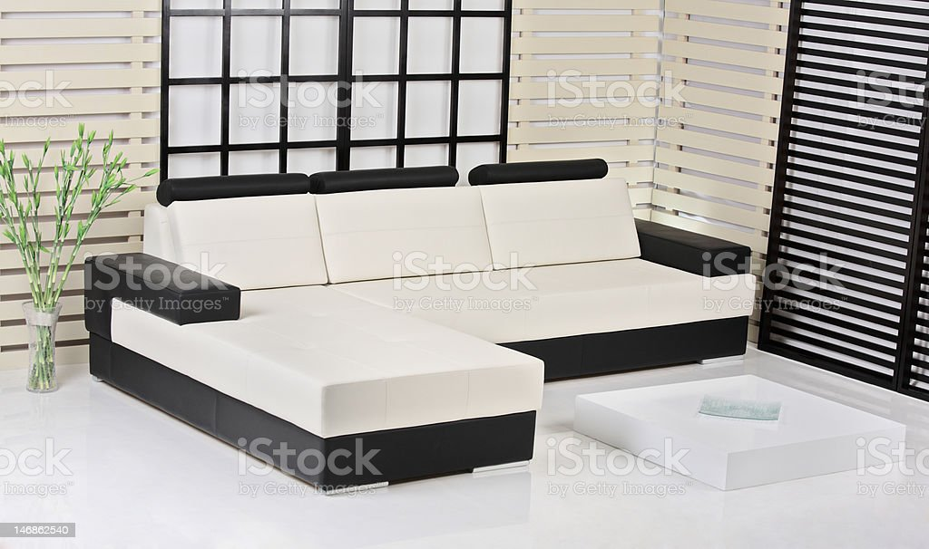 Contemporary interior royalty-free stock photo