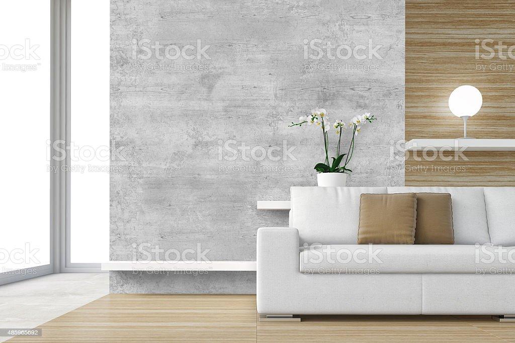 Contemporary interior scene - Stock Image stock photo