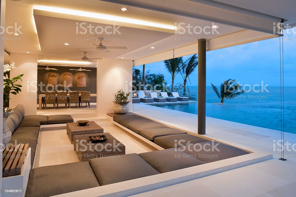 Contemporary Island Villa stock photo