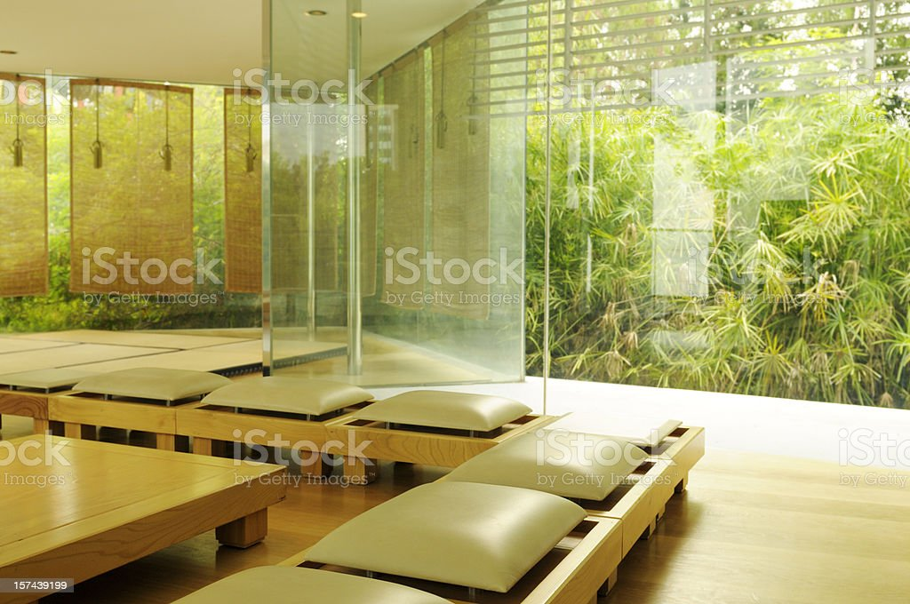 Contemporary Japanese Tea Room stock photo