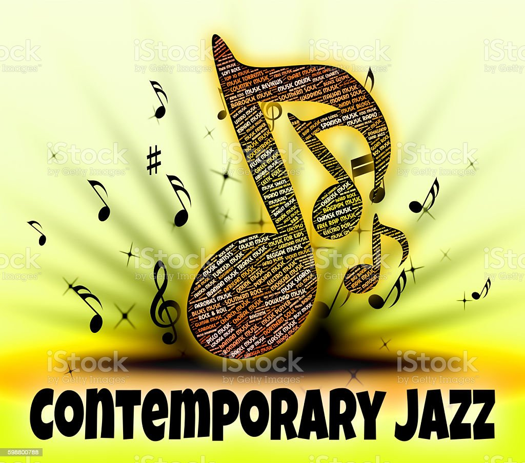 Contemporary Jazz Represents Up To Date And Audio stock photo