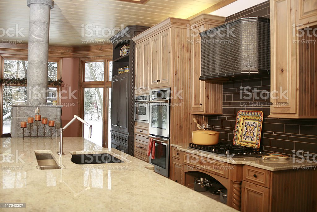 Contemporary Kitchen Remodel stock photo