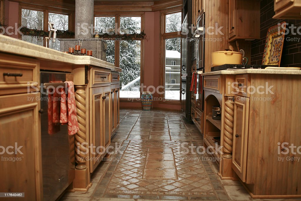 Contemporary Kitchen Remodel royalty-free stock photo