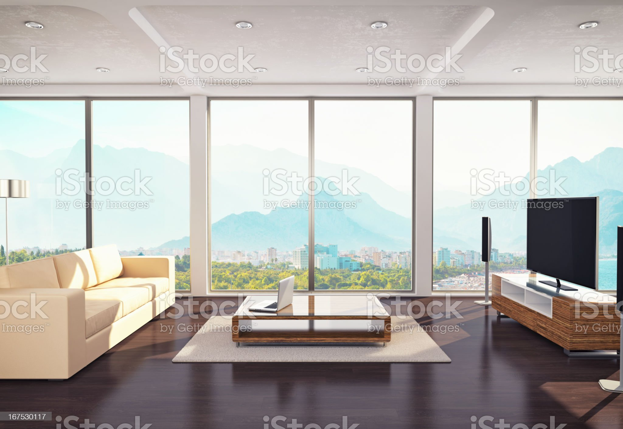 Contemporary Living Room Design royalty-free stock photo