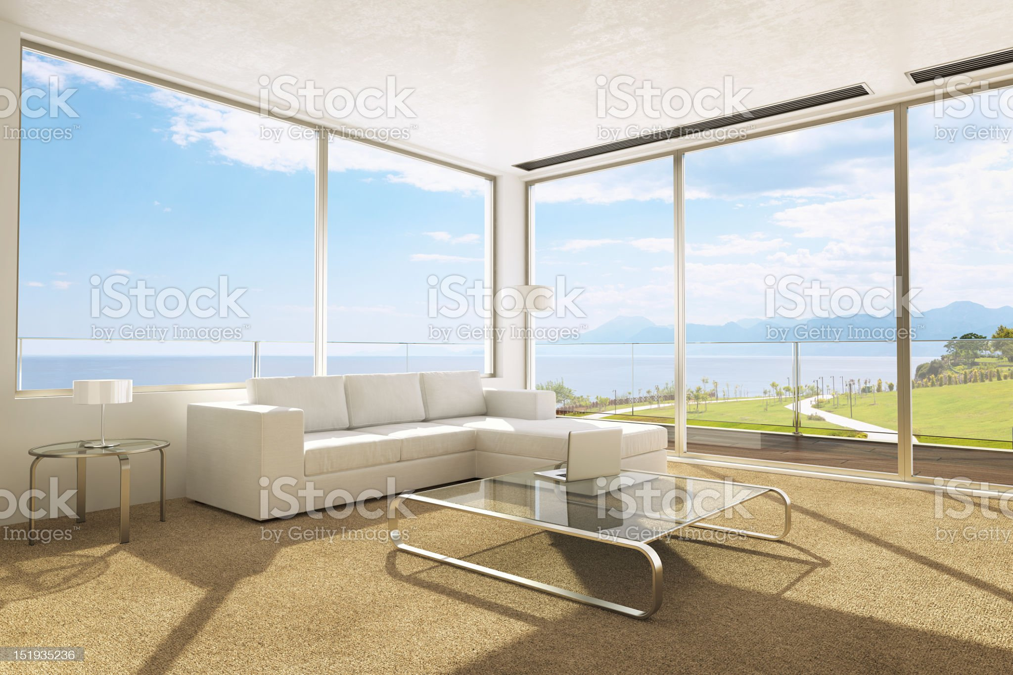 Contemporary Living Room Interior royalty-free stock photo
