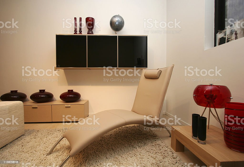 contemporary livingroom royalty-free stock photo