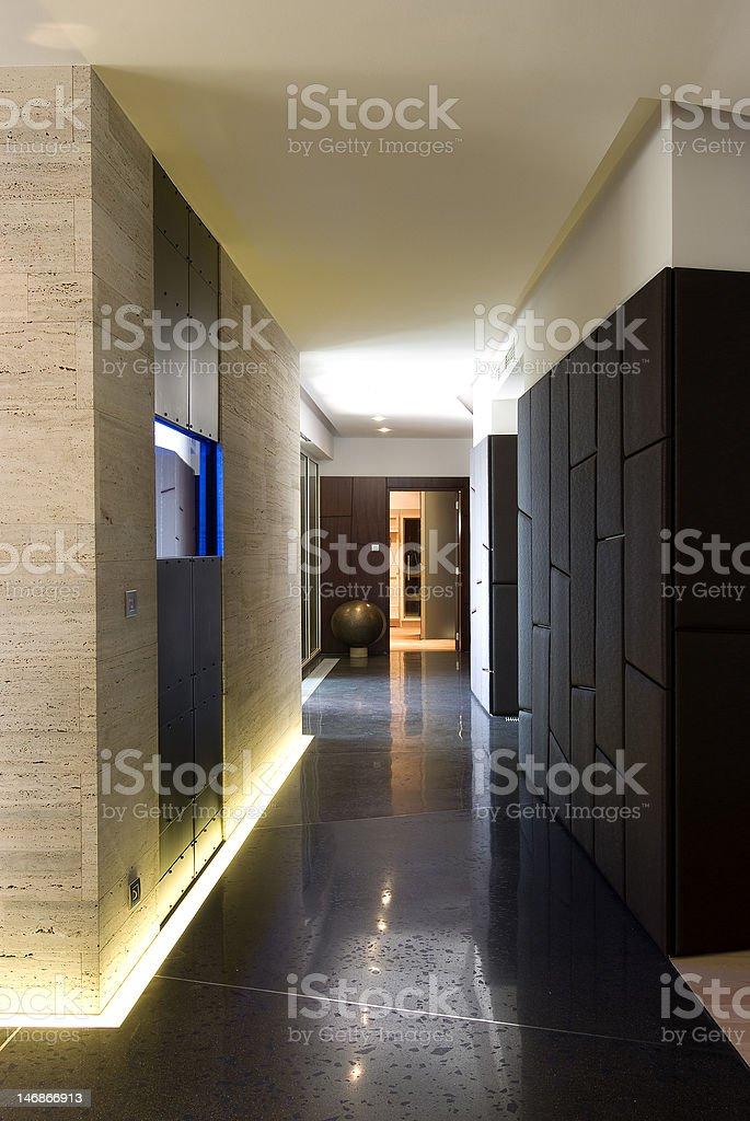 contemporary loft - hall royalty-free stock photo