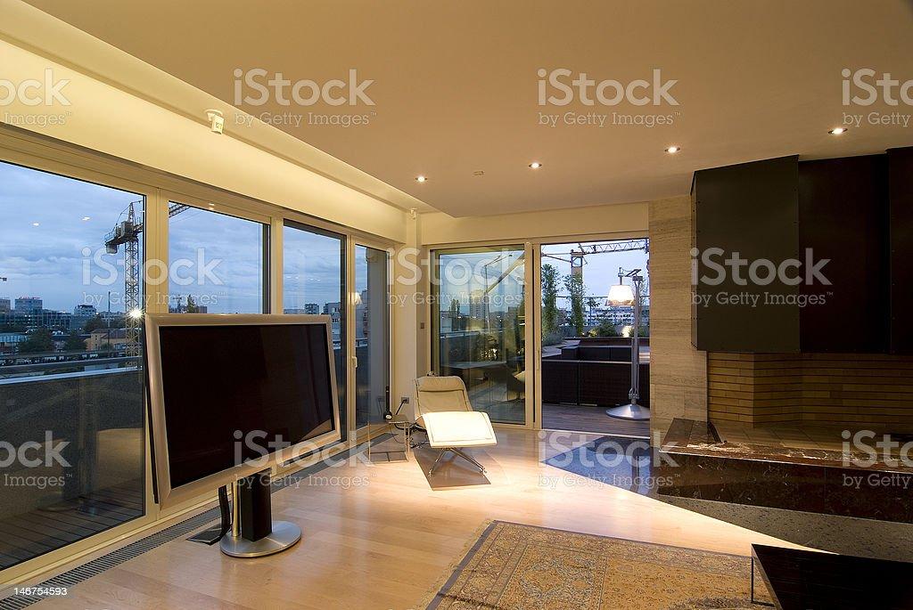 contemporary loft royalty-free stock photo