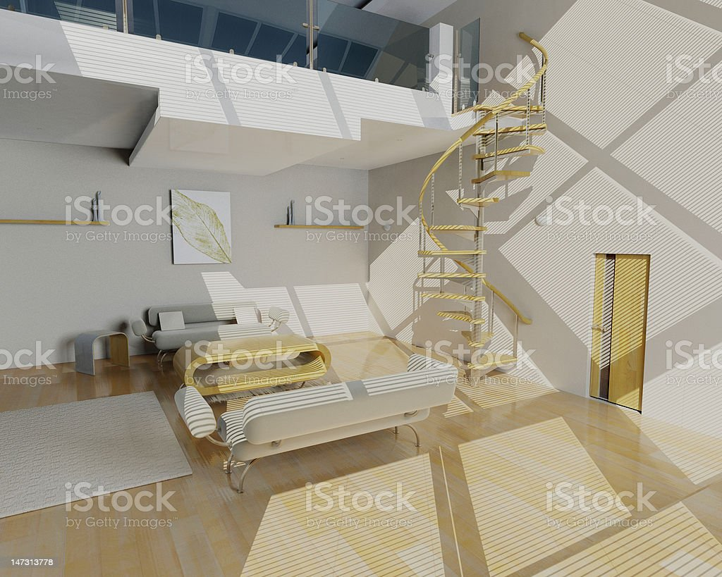 Contemporary lounge stock photo