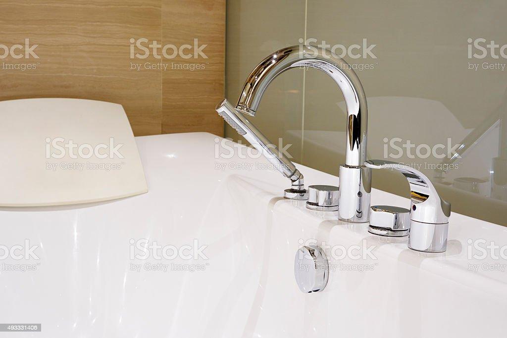 Contemporary Luxury Bathtub stock photo