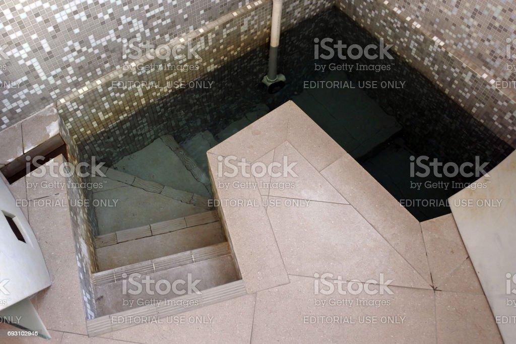Contemporary Mikveh stock photo