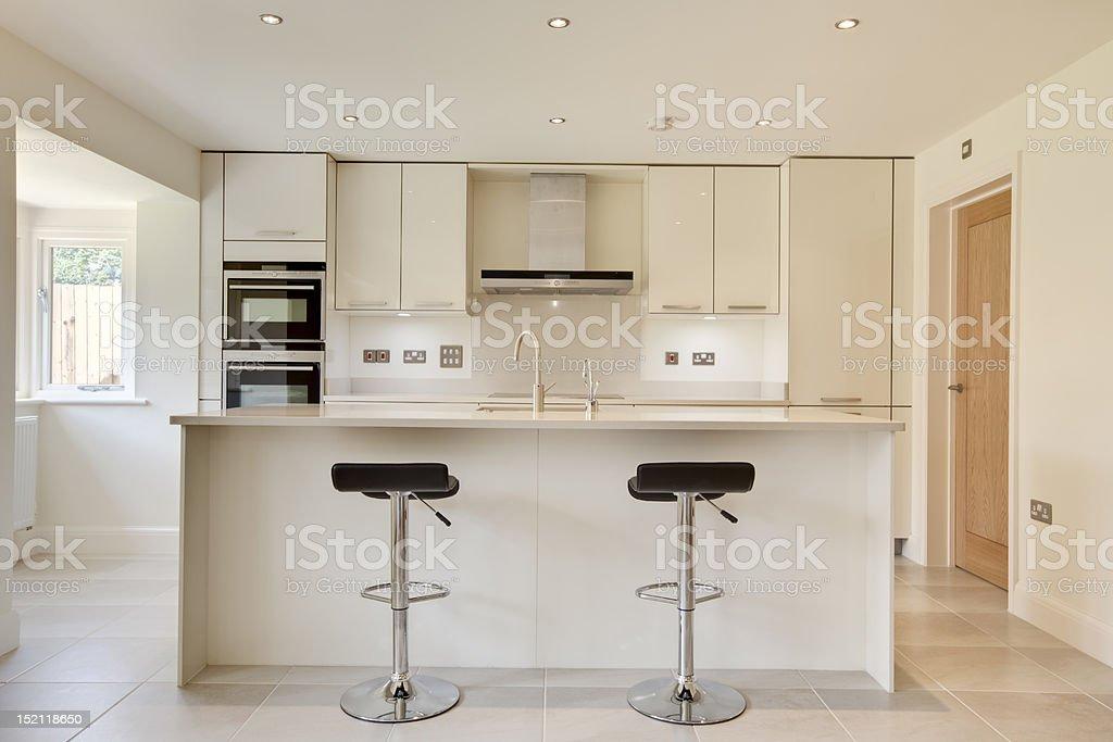Contemporary modern kitchen stock photo