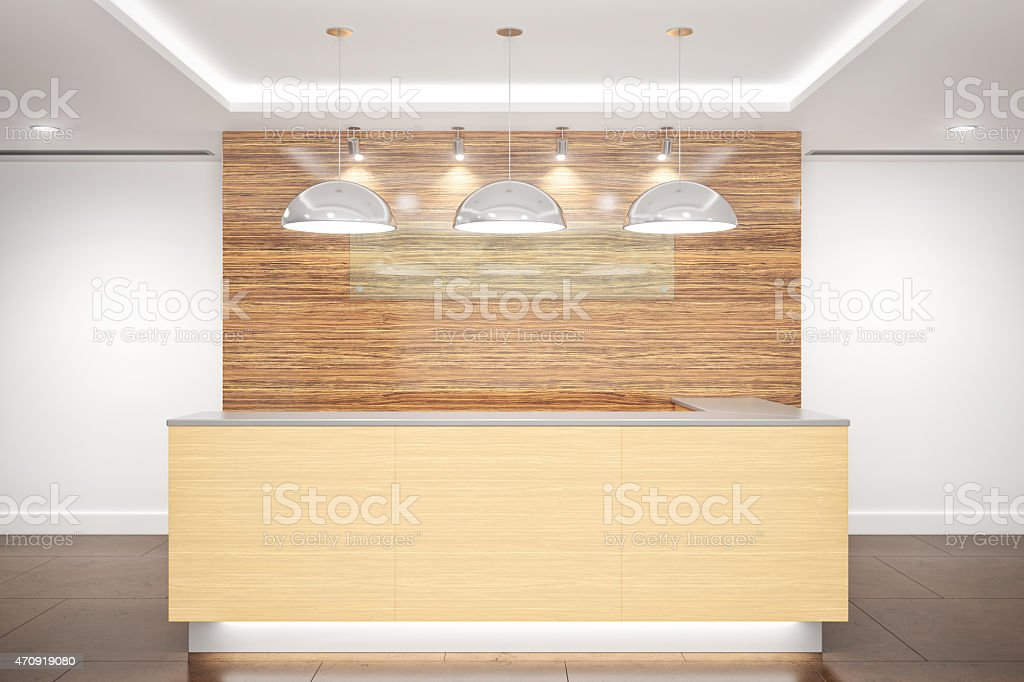 Contemporary Office and Hotel Reception Interior stock photo