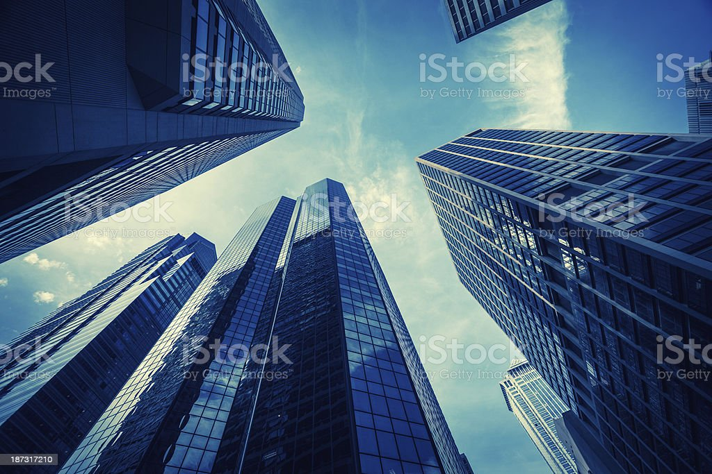 Contemporary Office Buildings in Downtown Philadephia, USA royalty-free stock photo
