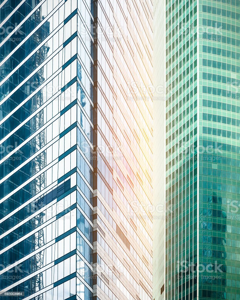 Contemporary office buildings stock photo