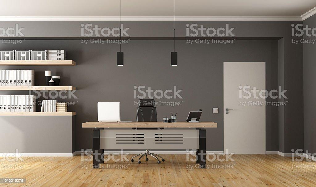 Contemporary office room stock photo