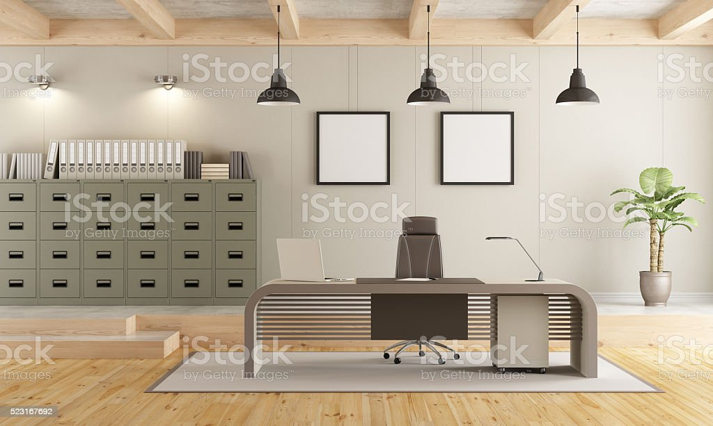 Contemporary office space stock photo