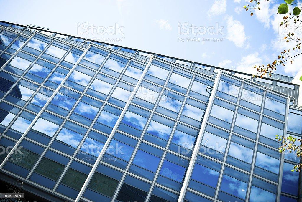 contemporary oslo building skyscraper reflecting in facade royalty-free stock photo