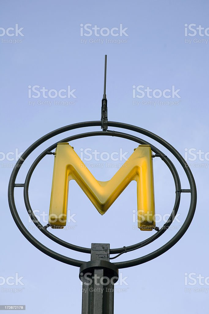 Contemporary Paris Metro Sign royalty-free stock photo