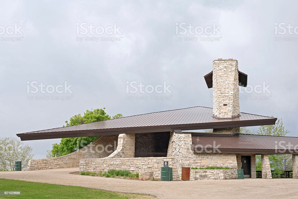 Contemporary Park Shelter stock photo
