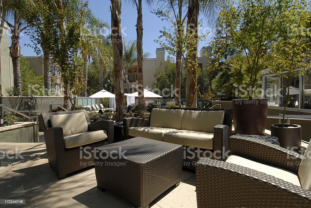 Contemporary Patio Furnitire royalty-free stock photo
