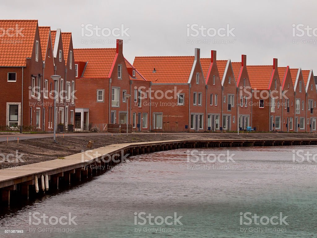Contemporary Retro Houses stock photo