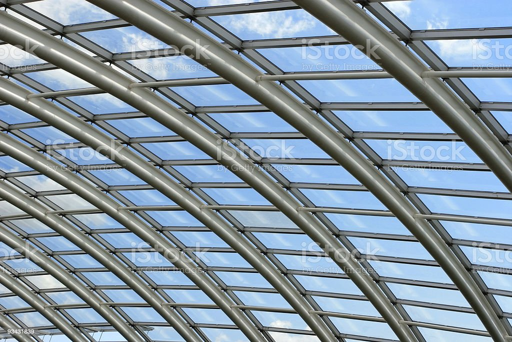 Contemporary Roof Span royalty-free stock photo