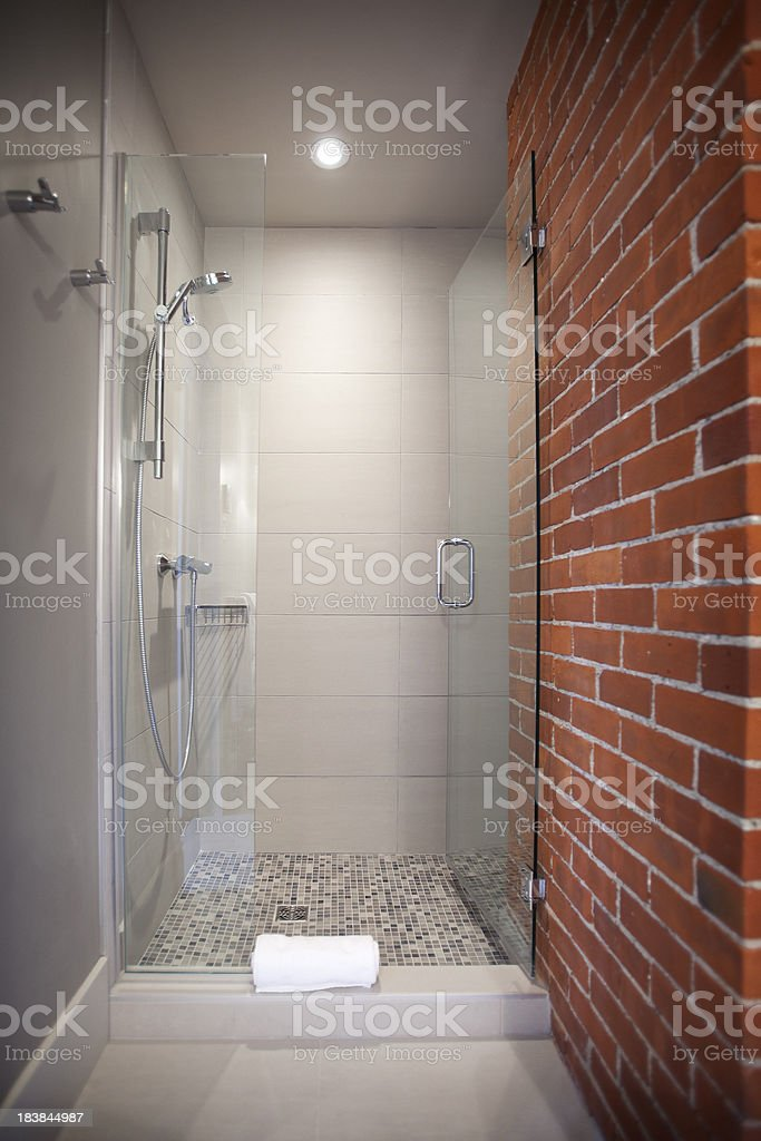 Contemporary shower royalty-free stock photo