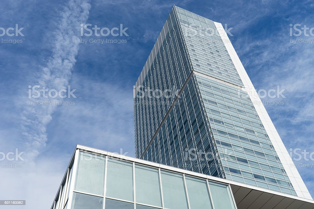 Contemporary skyscraper in Niigata, Japan. 2 stock photo