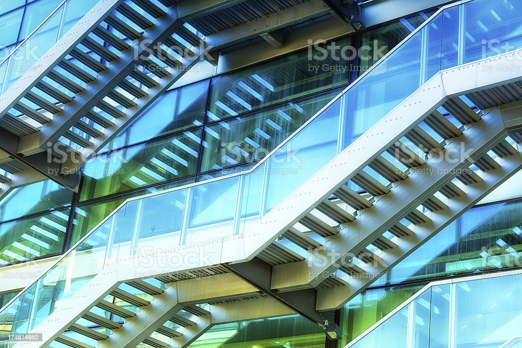 Contemporary Staircase royalty-free stock photo