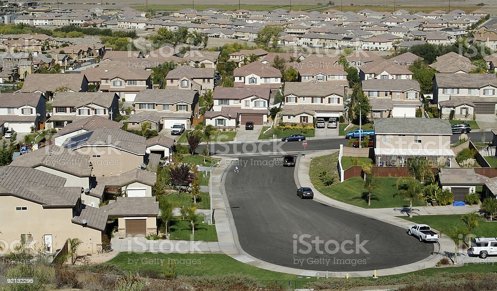 Contemporary Suburban Neighborhood royalty-free stock photo