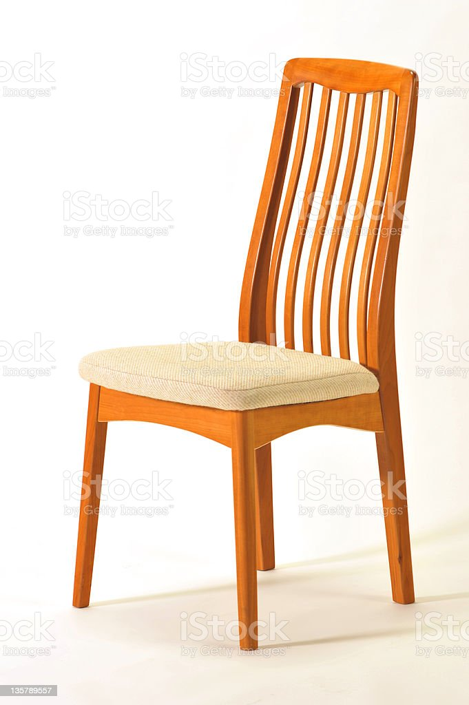 Contemporary teak dining room chair royalty-free stock photo