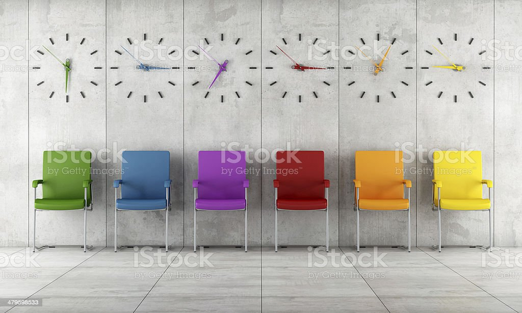 Contemporary waiting room stock photo