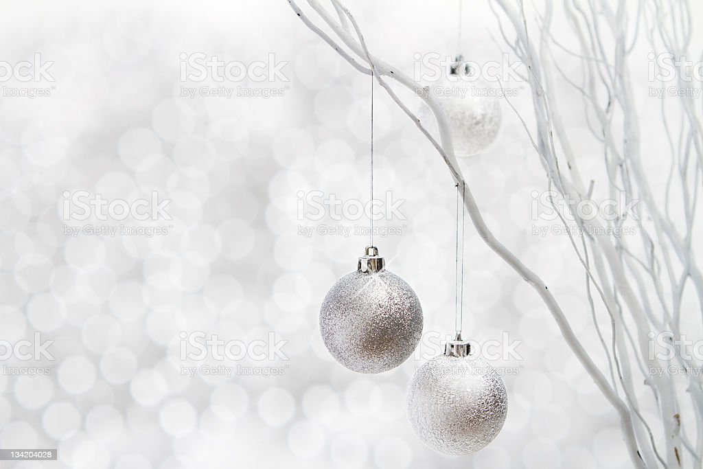Contemporary white christmas background royalty-free stock photo