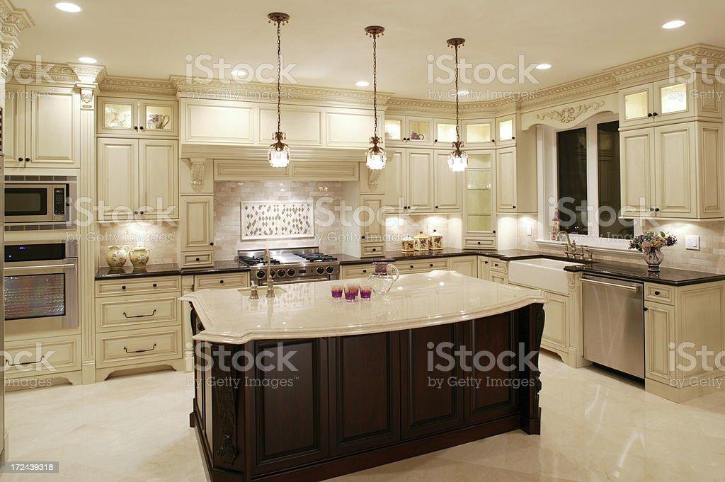 Contemporary White Kitchen royalty-free stock photo